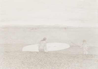 Richard Eurich, 'Windsurfer with board', 1987