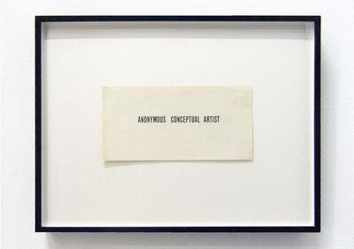 Goran Trbuljak, 'Anonymous Conceptual Artist', 1971-1973