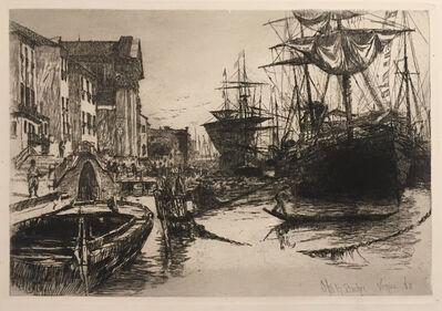 Otto Henry Bacher, 'Fondamenta Delle Zatterre or View in Venice', 1880