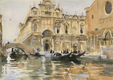 John Singer Sargent, 'Rio dei Mendicanti, Venice', ca. 1909