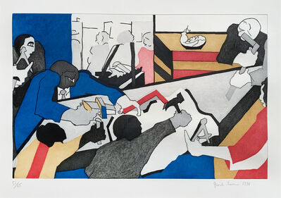 Jacob Lawrence, 'TEN BUILDERS', 1996