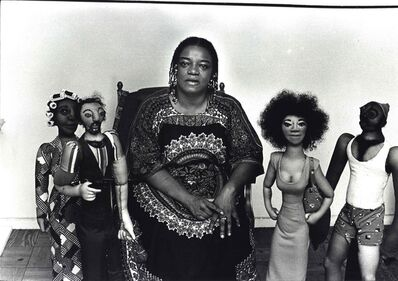 Fred W. McDarrah, 'Faith Ringgold In Her Harlem Apartment Surrounded by Soft Sculpture Rag Dolls', August 30-1978
