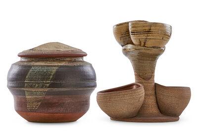 Karen Karnes, 'Lidded vessel and sculptural centerpiece'