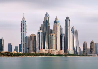 Andrew Prokos, 'Dubai Marina Towers from Palm Jumeirah - Long-Exposure', 2020
