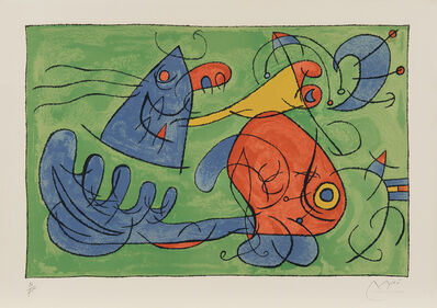 Joan Miró, 'Suites pour Ubu Roi (Suite for King Ubu): plate 12', 1966