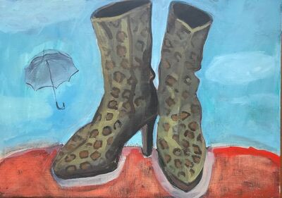 Suzy O'Mullane, 'Seattle Boots and Flying Umbrella', 2018