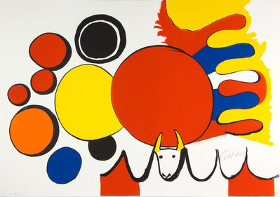 Alexander Calder, 'Bull and Circles (From Poems to Watch)', 1976