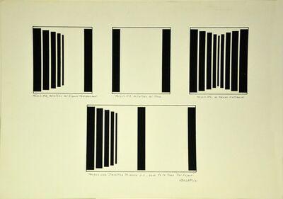 """Waldo Balart, 'Proposición dialéctica binaria 2:1, base de la serie """"Del espacio""""', 1981"""