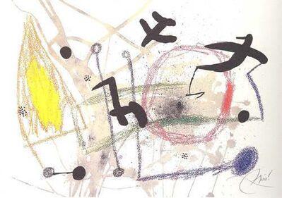Joan Miró, 'Maravillas con variaciones acrosticas en el jardin de Miro (V)', 1975
