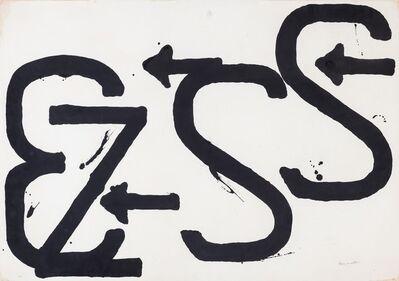 Jannis Kounellis, 'Numeri, lettere e simboli'