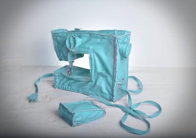 Margarita Cabrera, 'Sewing Machine (Blue Green)', 2016