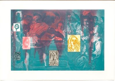 David Salle, 'Canfield Hatfield, Plate 3', 1989