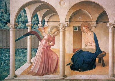 Fra Angelico, 'The Annunciation, north corridor, Monastery of San Marco', ca. 1438-45