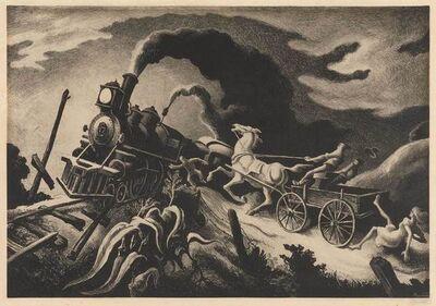 Thomas Hart Benton, 'Wreck Of The Ol' 97 (F. 63)', 1944
