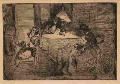 James Abbott McNeill Whistler, 'The Music Room', 1859