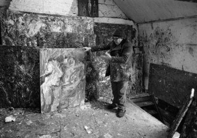 Benjamin Katz, 'Eugène Leroy dans son atelier à Wasquehal, France', 1985