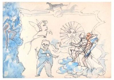 Mino Maccari, 'Fairy Tales of the Sun', 1970s