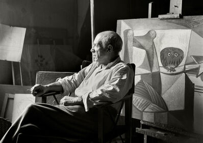 Herbert List, 'Pablo Picasso at his studio. Paris (France), 7 rue des Grands Augustins', 1948