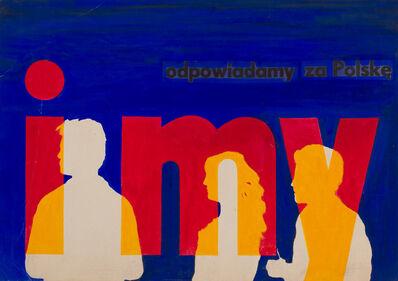 Wojciech Zamecznik, 'Etude préparatoire pour l'affiche de la campagne publique'