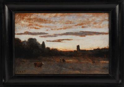 Jean-Baptiste-Camille Corot, 'Tour dominant la campagne'