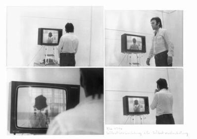 Peter Weibel, 'Self viewing as self forgetting as self darkening', 1974