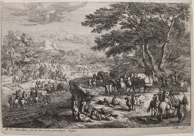 Jan van Huchtenburgh, 'Landscape with Marching Soldiers', Late 1600s