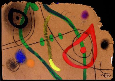 Joan Miró, 'Tete et oisseau', 1973