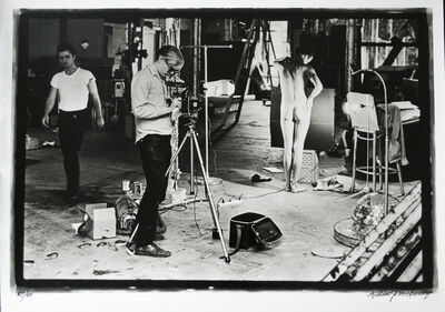 William John Kennedy, 'Andy Warhol filming Taylor Mead's Ass', 1964