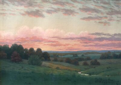 William Anderson Coffin, 'Sunset in October', 1900