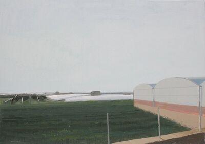 Ana Garcia Perez, 'Ana Carcia Perez: Roads and glasshouses III - oil on board', 2018
