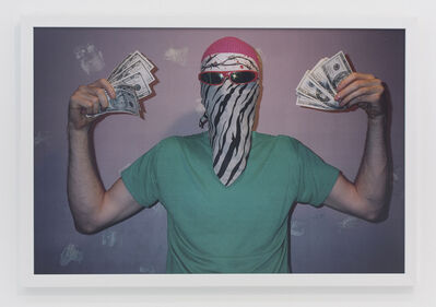 Andrew Jeffrey Wright, 'In bathroom with gray bandana and sunglasses covering face', 2001