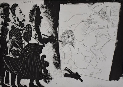 Pablo Picasso, 'Patron and his Entourage Visit the Painter's Studio, from: Series 347 | Patron et sa suite en visite à l'atelier du vieux peintre', 1968