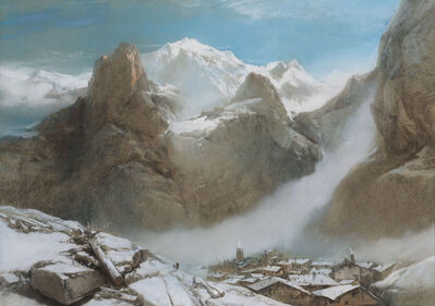 Henry Bright, 'Mont Blanc from Courmayeur', ca. 1849