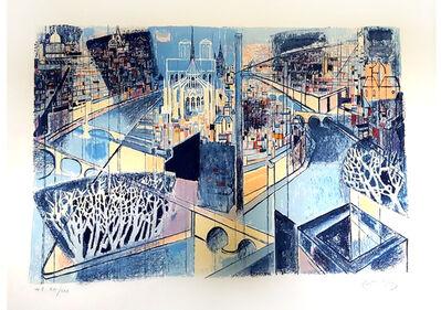 "Édouard Georges Mac-Avoy, 'Original Lithograph ""Paris"" by Édouard Georges Mac-Avoy', Circa 1960"