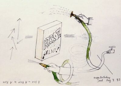 Saul Steinberg, 'Arroz (A Rose is A Rose is A Rose)', 1970