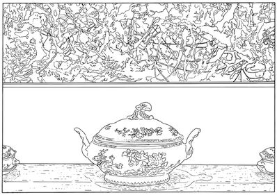 Louise Lawler, 'Pollock and Tureen (traced)', 1984-2013