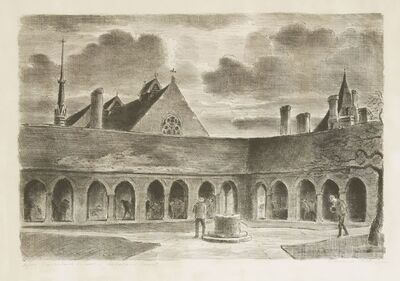 Edward Ardizzone, 'The Old Charterhouse; Charterhouse School - Scholar'S Court', c.1960