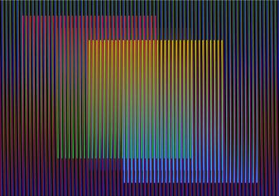 Carlos Cruz-Diez, 'Gráfica Color Aditivo Eduardo', 2011