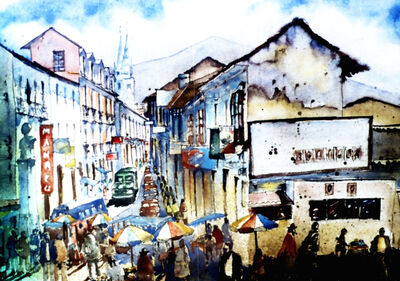 Emilio Torrez, 'Perez Velasco Street in La Paz', 1980