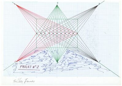 Esther Ferrer, 'Proyectos espaciales #2', 1980