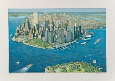 Richard Haas, 'Manhattan View, Governor's Island', 1999