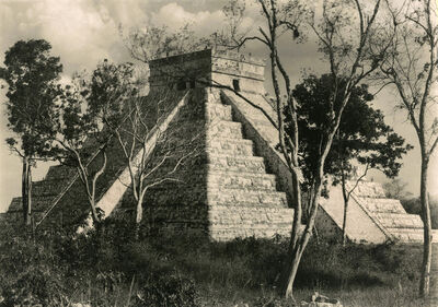 Laura Gilpin, 'Temple of Kukulcan, Chichen Itza', 1932