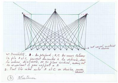 Esther Ferrer, 'Proyectos espaciales #5 (1/3)'