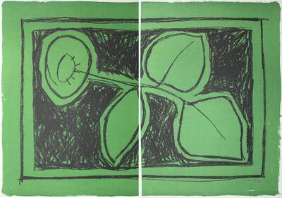 Joan Hernández Pijuan, 'Flor sobre verd / Flower on Green', 1987