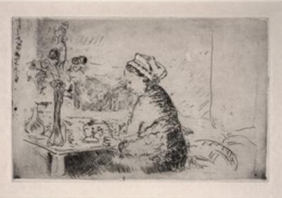 Édouard Vuillard, 'Woman with a Bouquet', ca. 1924
