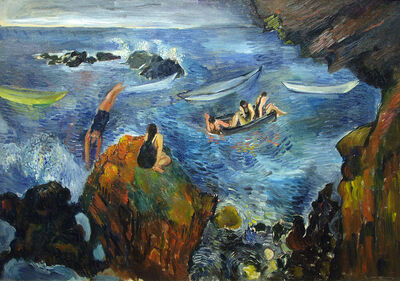 Bernard Karfiol, 'Bathers in Boats', ca. 1920