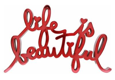 Mr. Brainwash, 'Life Is Beautiful - Red', 2018