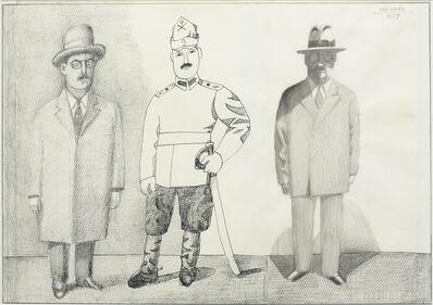 Saul Steinberg, 'Three Brothers', 1977