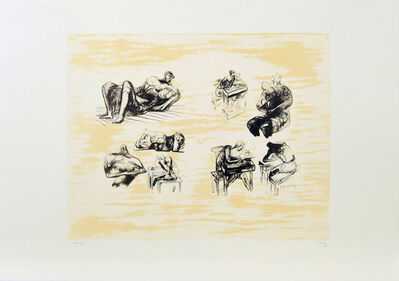 Henry Moore, 'Eight Sculptural Ideas, Girl Writing', 1973