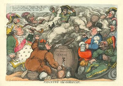 Thomas Rowlandson, 'Funcking the Corsican', 1813